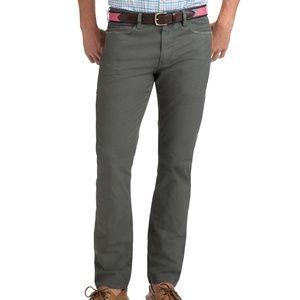 Vineyard Vines Classic Fit 5-pocket Canvas Pants